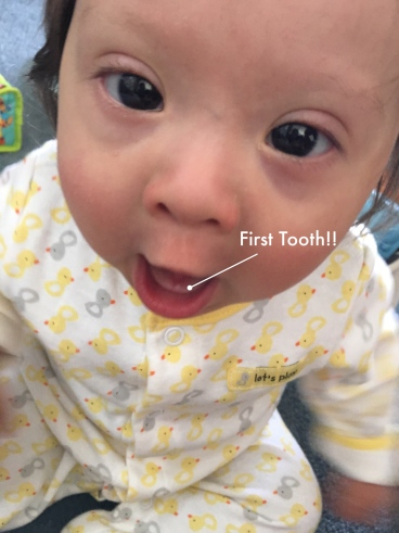 First Tooth!! |